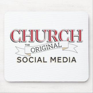 教会-元の社会的な媒体 マウスパッド
