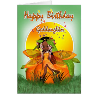 教女のバースデー・カード- Mooniesの柑橘類の妖精- カード