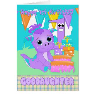 教女の第1誕生日のかわいく小さいモンスター カード