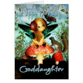 教女、バースデー・カード、かわいく小さい妖精 カード
