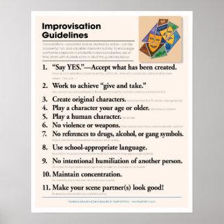 教室の即興の指針 ポスター
