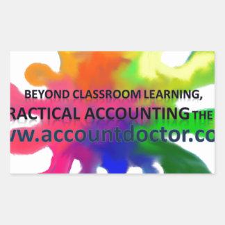 教室の学ぶことを越えて 長方形シール