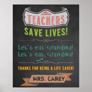 教室の装飾-先生の感謝 ポスター