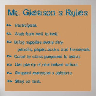 教室の規則 ポスター