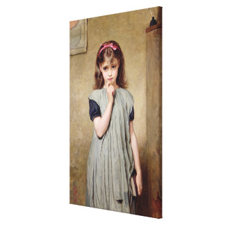 教室1876年の若い女の子(キャンバスの油 キャンバスプリント