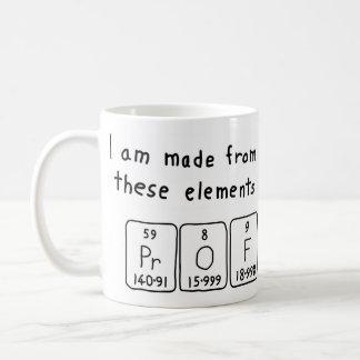 教授の周期表の名前のマグ コーヒーマグカップ