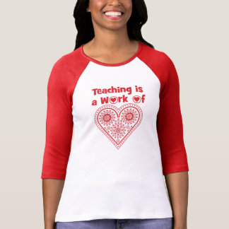 教授はですハート/I愛等級の_の仕事 Tシャツ