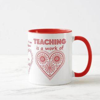 教授はハートの仕事-名前入りなコップです マグカップ