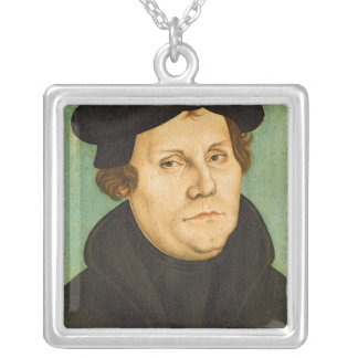 教授1529年としてLuther シルバープレートネックレス