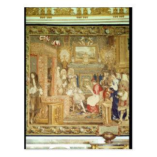 教皇のLegateを受け取るルイ14世 ポストカード
