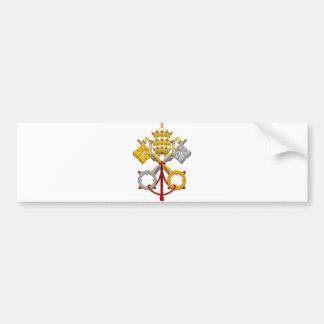 教皇制度の公式の法皇のSymbol Coat紋章 バンパーステッカー
