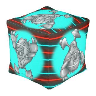 教祖および大きいRUGUのロボットポリエステルによって立方体にされるPouf プーフ
