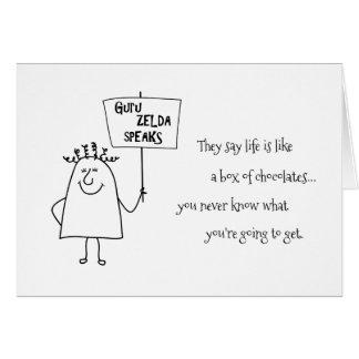 教祖のZeldaチョコレートは一流の誕生日の挨拶を加えます カード