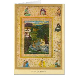 教祖への訪問、Mughal、17世紀 カード