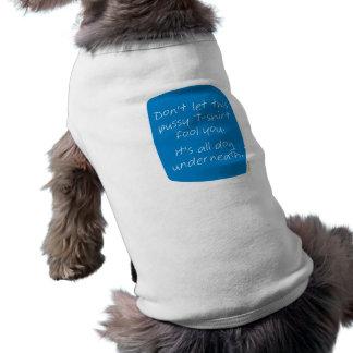 教義犬の下の(青) ペット服