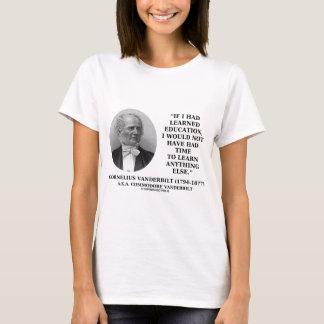 教育を学ぶ時間がないために学びました Tシャツ