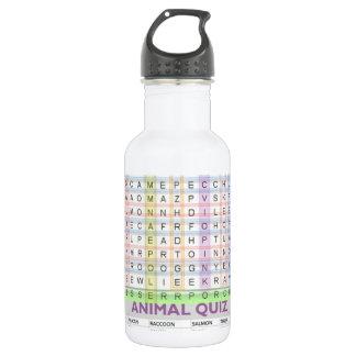 教育用具: アルファベットn動物の名前を学んで下さい ウォーターボトル