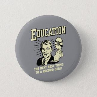 教育: 最も最高のな事の記録取り引き 5.7CM 丸型バッジ