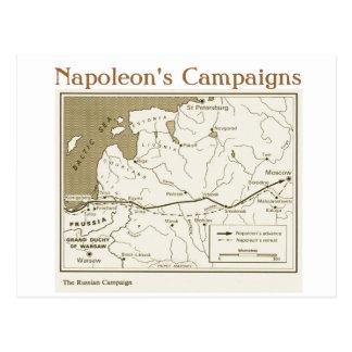 教育、歴史、ナポレオンのロシアのなキャンペーン ポストカード