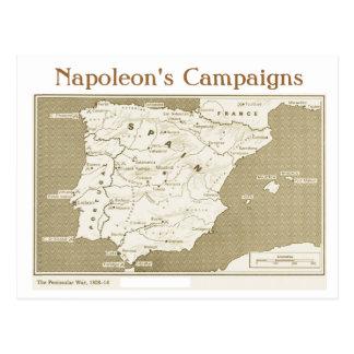 教育、歴史、ナポレオンの半島戦争 ポストカード