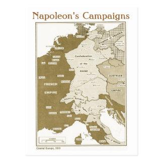 教育、歴史、ナポレオン、中央ヨーロッパ1810年 ポストカード
