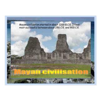 教育、歴史、マヤ文明 ポストカード