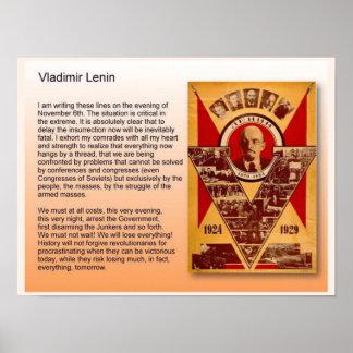 教育、歴史、ロシア、ウラジーミル・レーニン ポスター