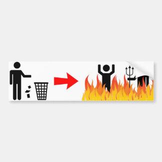 散らかること-地獄のLitterersの焼跡 バンパーステッカー