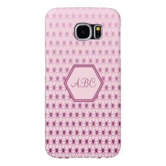 数々のなくものピンクのカスタムなイニシャル SAMSUNG GALAXY S6 ケース