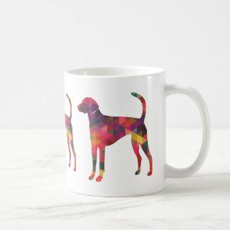 数々のなアメリカFoxhoundのGeoパターンシルエット- コーヒーマグカップ