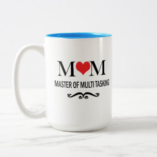 数々のなタスキングの母の日のコーヒー・マグのお母さんのマスター ツートーンマグカップ