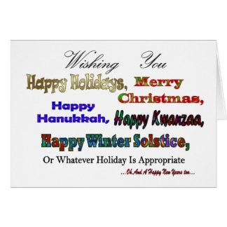 数々のな休日の挨拶 カード