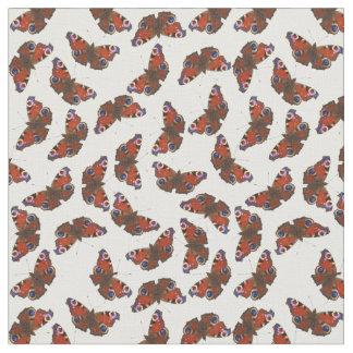 数々のな孔雀の蝶パターン ファブリック
