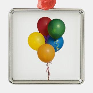 数々のな着色されたパーティーの気球 メタルオーナメント