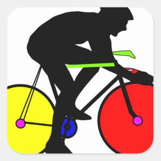 数々のな着色された循環のバイク スクエアシール