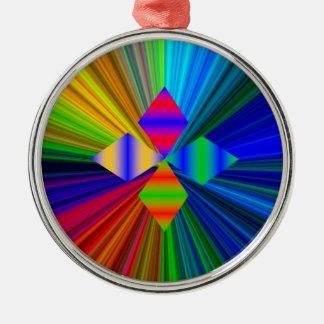 数々のな色のダイヤモンドの優れた円形のオーナメント メタルオーナメント
