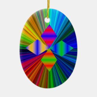 数々のな色のダイヤモンドの楕円形のオーナメント セラミックオーナメント
