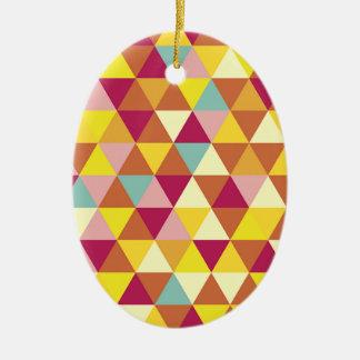 数々のな色のダイヤモンドパターン セラミックオーナメント