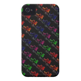 数々のな色のヴィンテージのローラースケート Case-Mate iPhone 4 ケース