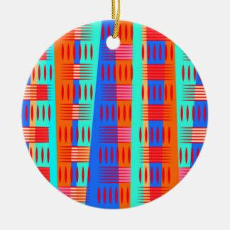 数々のな色の幾何学的な型枠 セラミックオーナメント