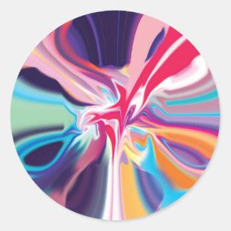 数々のな色の渦 ラウンドシール