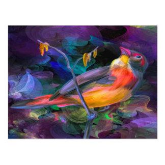 数々のな色の鳥 ポストカード