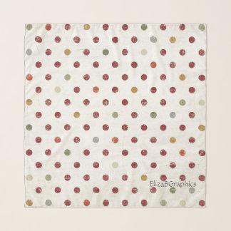 数々のな色は軽くて柔らかい正方形のスカーフに点を打ちます スカーフ