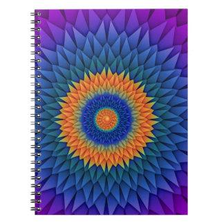 数々のな花の紫色Origami ノートブック