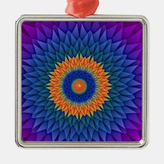 数々のな花の紫色Origami メタルオーナメント