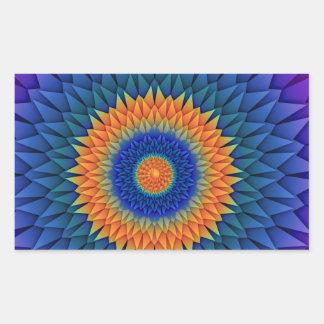 数々のな花の紫色Origami 長方形シール