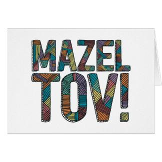 数々のなMazel Tovのパッチワーク カード