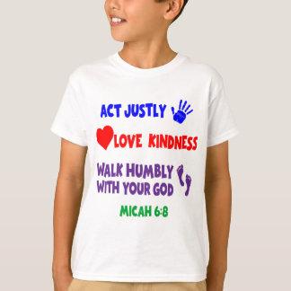 数々のなMicahの6:8 Tシャツ