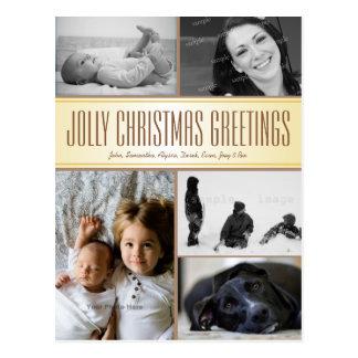 数々の写真のクリスマスの郵便はがきの挨拶 ポストカード