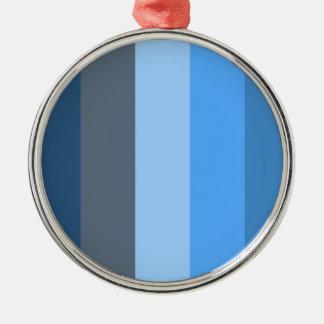 数々の青い メタルオーナメント